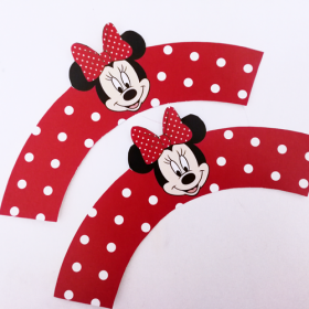 Minnie Mouse Διακοσμητικά Cupcake Wrappers (12τεμ)